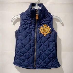 Polo ralph lauren girl quilted vest 2T